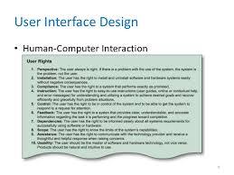 human interface design user interface design chapter 08