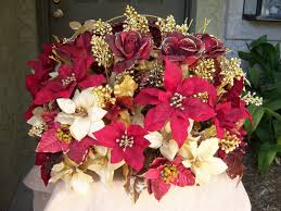 poinsettia wedding centerpiece winter wedding pinterest