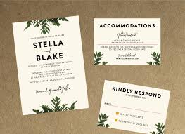 wedding invitations kansas city modern botanical greenery wedding invitation diy printable