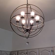 decor globe light chandelier orb light fixture