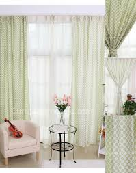Green Color Curtains Style Door Wall Curtains In Light Green Color With Flowers