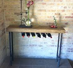 console table with wine storage reclaimed wood console table diy crafts pinterest console