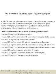 Internal Resume Internal Revenue Agent Cover Letter