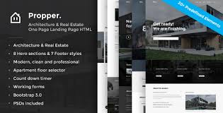 propper architecture html template landing pages