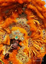 mardi gras indian orange photograph by jeanne woods