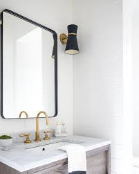 white framed mirrors for bathrooms 30 x 42 rounded rectangle metal framed mirror coastal powder