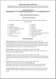 Resume Sle exles of resumes sle resume sle automotive template great