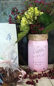 Mason Jar Vases Painted Mason Jar Vase Perfect Gift For Mother U0027s Day Anything