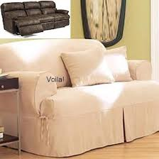Reclining Sofa Slip Cover Reclining Sofa T Cushion Slipcover Ivory Heavy Suede Adapted For