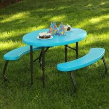 Lifetime Folding Picnic Table Lifetime Lime Green Children U0027s Picnic Table 60132 The Home Depot