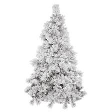 3 5ft unlit white flocked pine artificial tree target