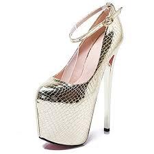 wedding shoes no heel golden high heels
