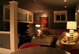living room cool basement living space ideas with design for
