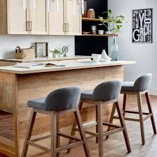 tabouret cuisine bois tabouret de comptoir en tissu avec pieds en bois tabourets de bar