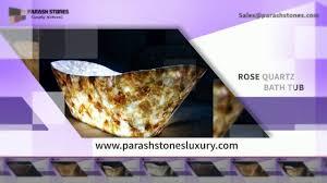 luxury bath tub in semi precious gemstone amethyst bath tub