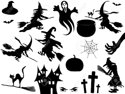 Cat Silhouette Halloween Collection Of Halloween Elements Royalty Free Cliparts Vectors