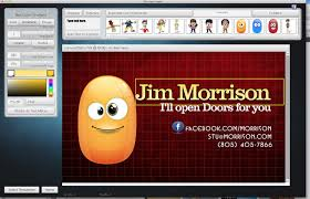 business card creator business card software from laughingbird