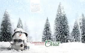 december 2015 christmas begins with christ desktop calendar