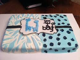 wild safari blue baby shower cake baby shower decoration