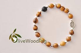bracelet rosary olive wood bracelet religious mini rosary holy land catholic one