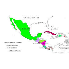 map of america with country names names of nationalties in a lesson covering central and