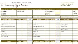 wedding catering budget worksheet advanced and simple