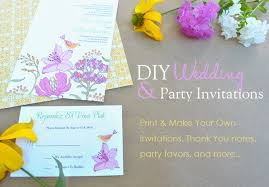 design your own wedding invitations make your own wedding shower invitations make your own wedding