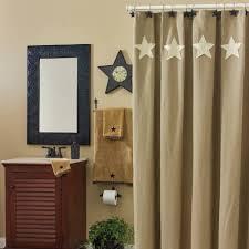 country bathroom taupe u0026 stars shower curtain