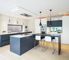 extractor fan kitchen modern with black and white kitchen london