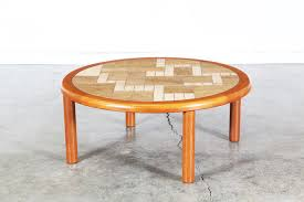 tue poulsen tile round coffee table for haslev vintage supply store