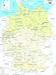 Southwest Asia Physical Map by Physical Map Of Germany Mesmerizing Map Gemany Evenakliyat Biz