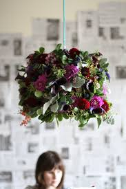 Flower Pendant Light Make This Fresh Flower Pendant Light Diy Paper And Stitch