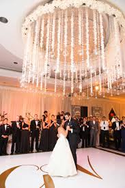 reception décor photos first dance under ceiling installation