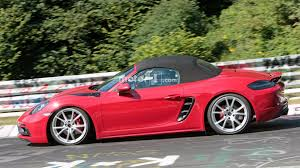 pink porsche boxster porsche boxster gts spied looking low and fast at the nürburgring