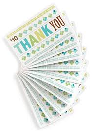 gift card packs 10 gift cards pack of 10 thank you card