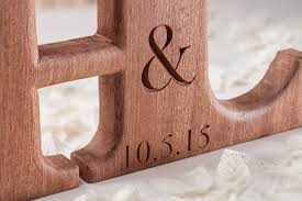 carved linked wooden letters by house of carvings