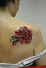 31 best shoulder rose tattoo on back images on pinterest tattoo