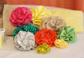 Fabric Flowers Diy Wedding Project Fabric Flower Tutorial