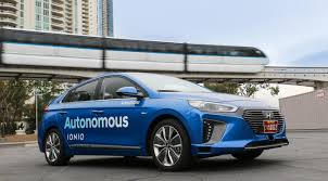 hyundai vehicles hyundai ioniq self driving car flawless all right turns no