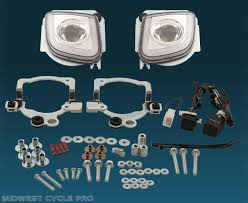 led rectangular fog light kit honda goldwing gl1800 f6b valkyrie