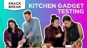 kitchen gadget testing snack break tastemade staff youtube