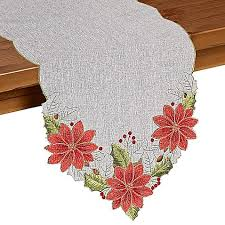 bed bath and beyond christmas table linens joyful christmas table runner bed bath beyond