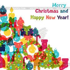 happy new year invitation christmas and happy new year invitation card vector clip