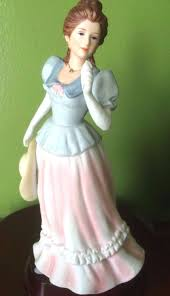 Home Interior Figurines by Vintage Homco Home Interiors 1452 Lady Camille Victorian Lady