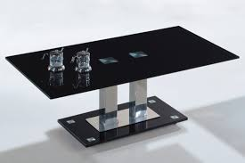 table modern black glass coffee table style large modern black