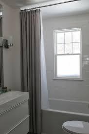 diy bathroom curtain ideas our extra long shower modern jane