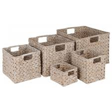 buy white water hyacinth storage baskets from the basket company