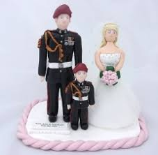 army cake toppers personalised handcrafted wedding cake topper
