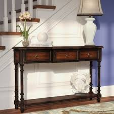Oak Sofa Table With Drawers Distressed Finish Console U0026 Sofa Tables You U0027ll Love Wayfair