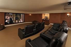 Movie Room Media Decorating Idea Of Family With Also Ideas In